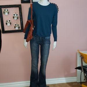 Jones New York merino wool teal sweater